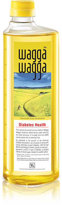 Wagga Wagga Diabetes Care - Cholesterol free, Best Indian Cooking Oil for Diabetes in India
