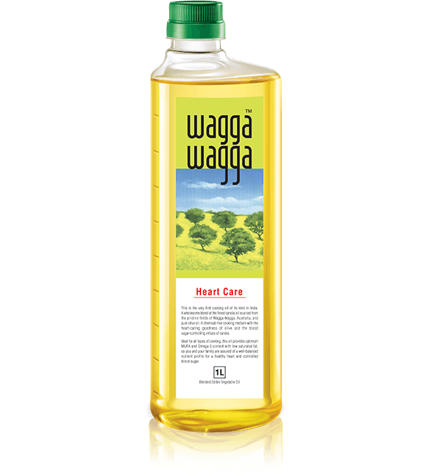 Wagga Wagga Heart Care - Low cholesterol, vegetable, refined, healthy Indian cooking olive oil for heart in India